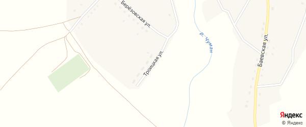 Троицкая улица на карте села Верха-Чуманки с номерами домов