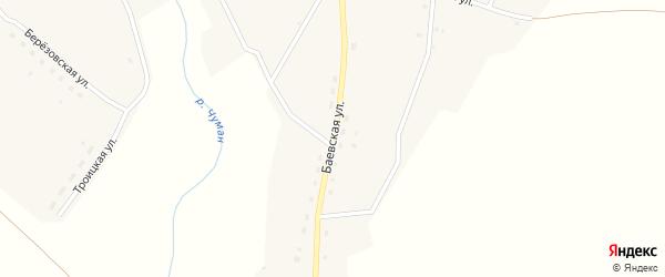 Баевская улица на карте села Верха-Чуманки с номерами домов