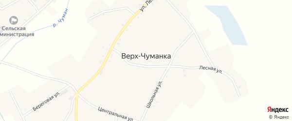 Первомайский переулок на карте села Верха-Чуманки с номерами домов