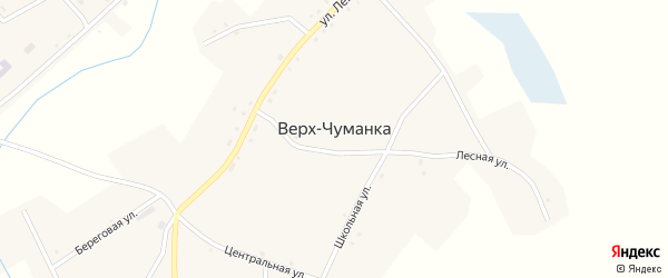 Улица Гагарина на карте села Верха-Чуманки с номерами домов