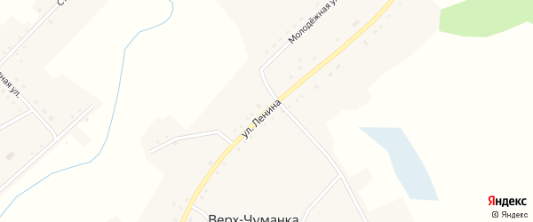 Улица Ленина на карте села Чуманки с номерами домов