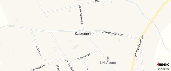 Переулок Куйбышева на карте села Камышенки с номерами домов