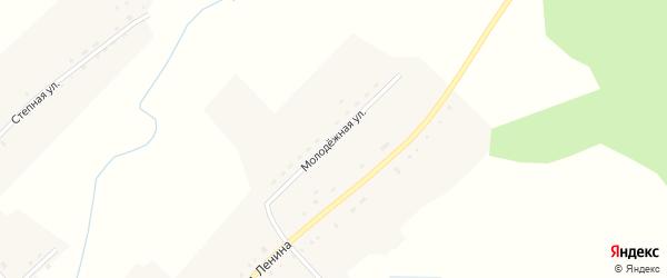 Молодежная улица на карте села Верха-Чуманки с номерами домов