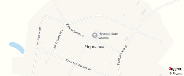 Комсомольская улица на карте села Чернавки с номерами домов