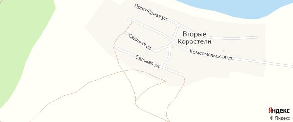 Садовая улица на карте села Вторые Коростели с номерами домов