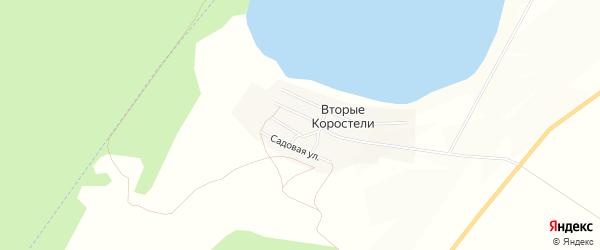 Карта села Вторые Коростели в Алтайском крае с улицами и номерами домов