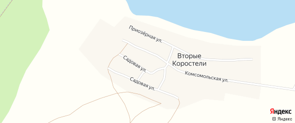 Пролетарская улица на карте села Вторые Коростели с номерами домов