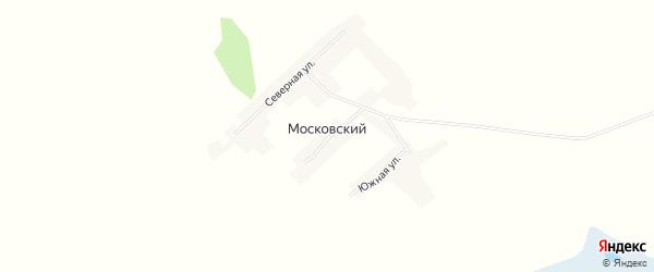 Карта Московского поселка в Алтайском крае с улицами и номерами домов