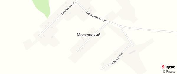 Центральная улица на карте Московского поселка с номерами домов