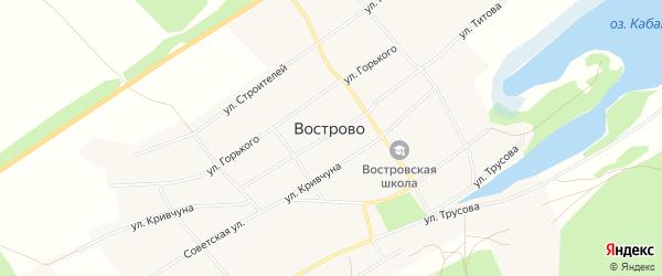 Карта села Вострово в Алтайском крае с улицами и номерами домов