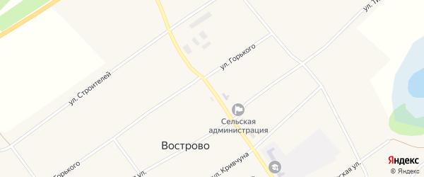 Молодёжная улица на карте села Вострово с номерами домов