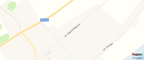 Улица Карла Маркса на карте села Вострово с номерами домов