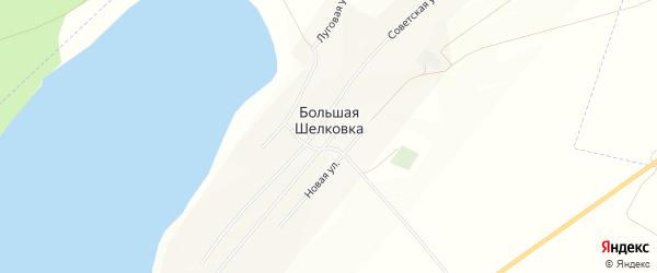 Карта села Большей Шелковки в Алтайском крае с улицами и номерами домов