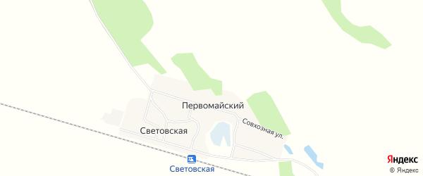 Карта Первомайского поселка в Алтайском крае с улицами и номерами домов