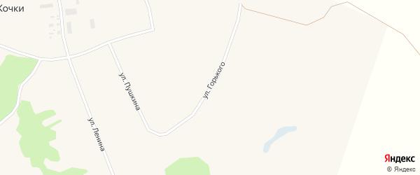 Улица Горького на карте села Кочки с номерами домов