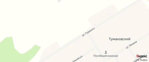 Школьная улица на карте Тумановского поселка с номерами домов