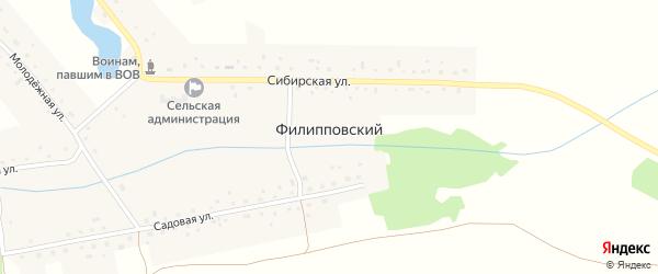 Садовая улица на карте Филипповского поселка с номерами домов