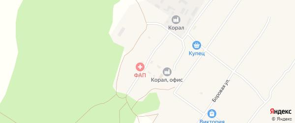 Лесная улица на карте села Ракиты с номерами домов