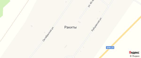 Молодежный переулок на карте села Ракиты с номерами домов