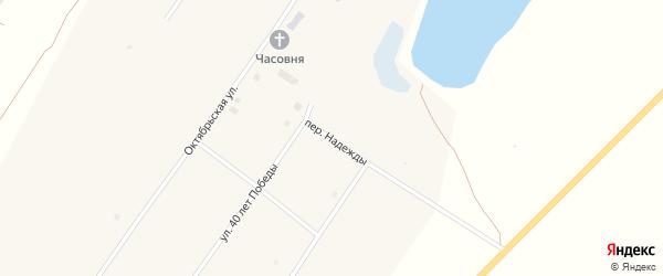 Переулок Надежды на карте села Ракиты с номерами домов