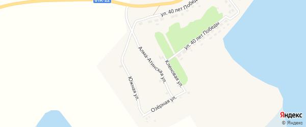 Алмаатинская улица на карте села Баево с номерами домов