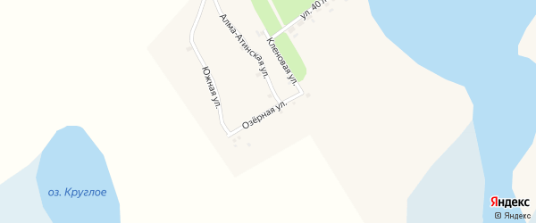 Озерная улица на карте села Баево с номерами домов