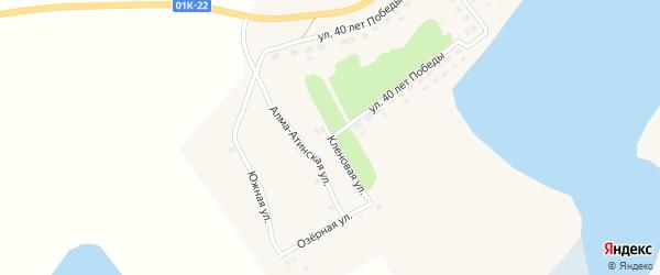 Кленовая улица на карте села Баево с номерами домов