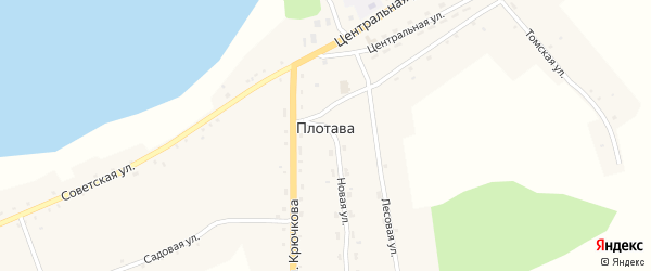 Комсомольская улица на карте села Плотавы с номерами домов