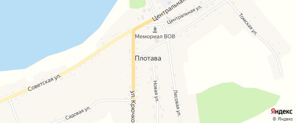 Набережная улица на карте села Плотавы с номерами домов
