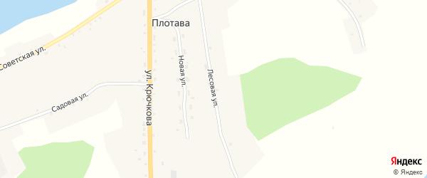Лесовая улица на карте села Плотавы с номерами домов