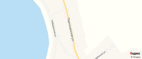 Партизанская улица на карте села Плотавы с номерами домов