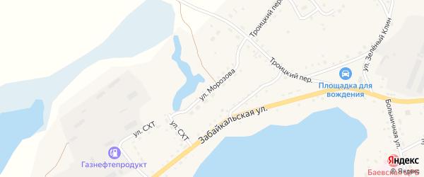 Улица Морозова на карте села Баево с номерами домов