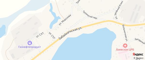 Забайкальская улица на карте села Баево с номерами домов
