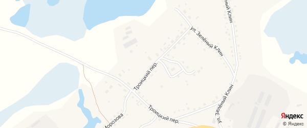 Троицкий переулок на карте села Баево с номерами домов