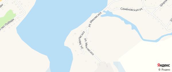Улица Мехлесхоз на карте села Баево с номерами домов