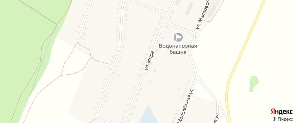 Улица Мира на карте села Малой Шелковки с номерами домов