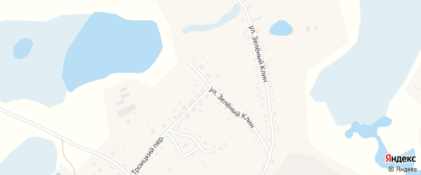 Улица Зеленый Клин на карте села Баево с номерами домов