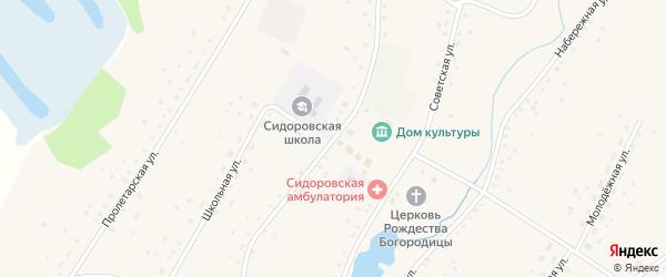 Партизанская улица на карте села Сидоровка с номерами домов