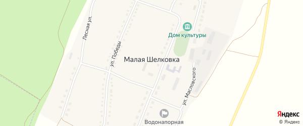 Улица Дружбы на карте села Малой Шелковки с номерами домов