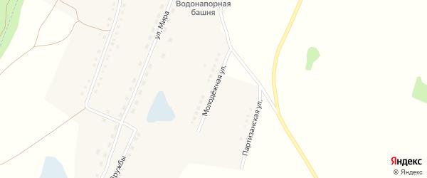 Молодежная улица на карте села Малой Шелковки с номерами домов