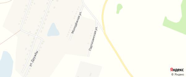 Партизанская улица на карте села Малой Шелковки с номерами домов