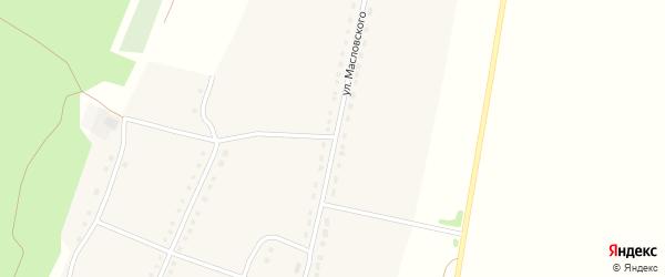 Улица Масловского на карте села Малой Шелковки с номерами домов