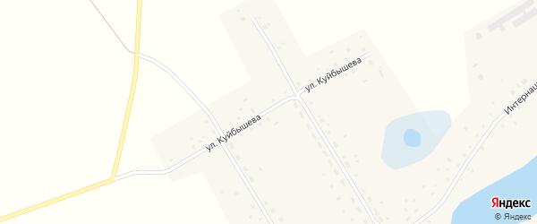 Улица Куйбышева на карте села Чистоозерки с номерами домов