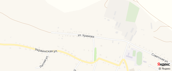 Улица Храмова на карте Поперечного села с номерами домов