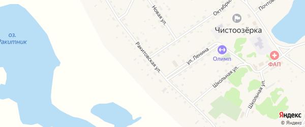 Ракитовская улица на карте села Чистоозерки с номерами домов
