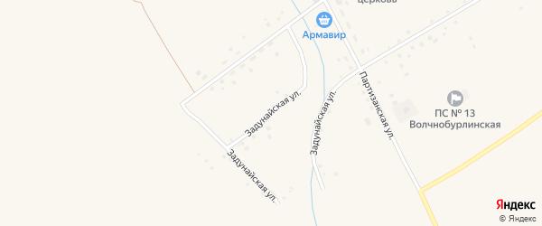Задунайская улица на карте Волчна-Бурлинского села с номерами домов