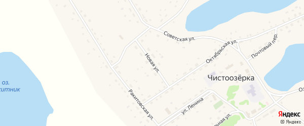 Новая улица на карте села Чистоозерки с номерами домов
