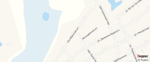 Октябрьская улица на карте села Баево с номерами домов
