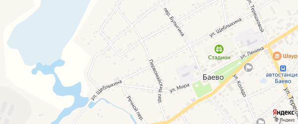 Первомайский переулок на карте села Баево с номерами домов