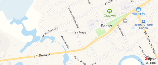 Улица Мира на карте села Баево с номерами домов